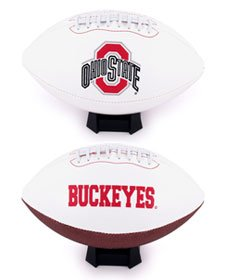 Embroidered Autograph (Ohio State Buckeyes Full Size Embroidered Signature Football)