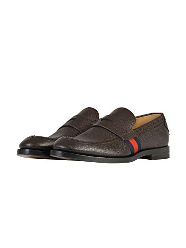 Gucci - Mocasines Hombre, marrón (marrón), 41.5 IT - Taille Fabricant 7.5: Amazon.es: Zapatos y complementos