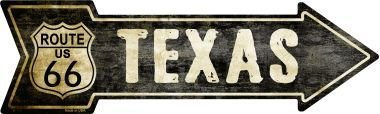 Smart Blonde Outdoor Decor Vintage Route 66 Texas Novelty Metal Arrow Sign A-129 from Smart Blonde