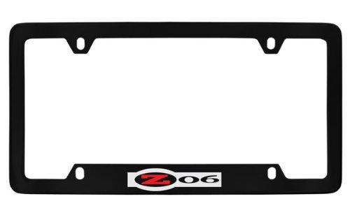 Chevrolet Corvette C5 Zo6 Black Metal license Plate Frame Holder, Bottom Engraved 4 ()