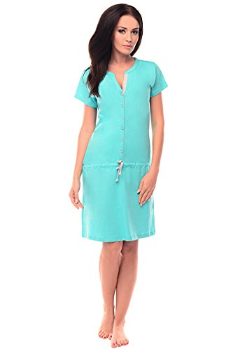 Purpless Maternity 2in1 Embarazo y la Lactancia Camisón Con Botones 5041n Aqua blue