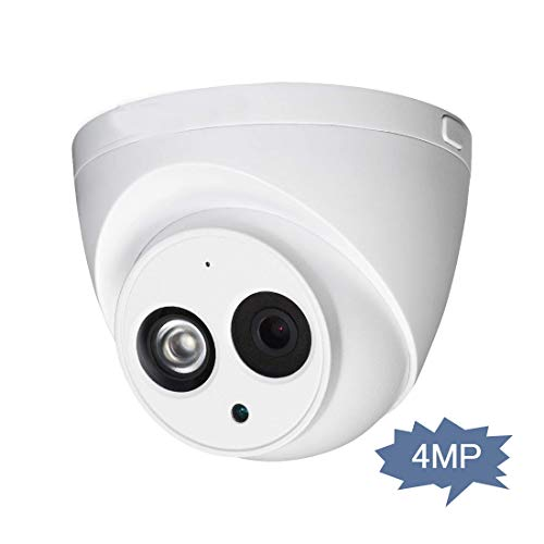 4MP POE Turret IP Camera H.265+ IPC-HDW4433C-A Dome Security Camera with Built-in Mic Outdoor IP67 International Version WDR DNR Onvif(2.8mm)
