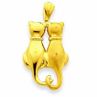 Petits Merveilles D'amour - 14 ct Or 585/1000 Pendentif chat