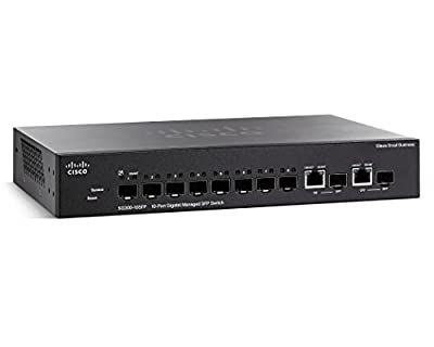 Cisco Small Business Sg300-10SFP - Switch - 8 Ports - Managed - Desktop, Rack-Mountable (SG300-10SFP-K9-NA)
