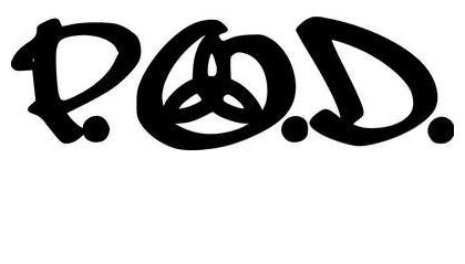 P.O.D. Rock Band - Sticker Graphic - Auto, Wall, Laptop, Cell, Truck Sticker for Windows, Cars, Trucks