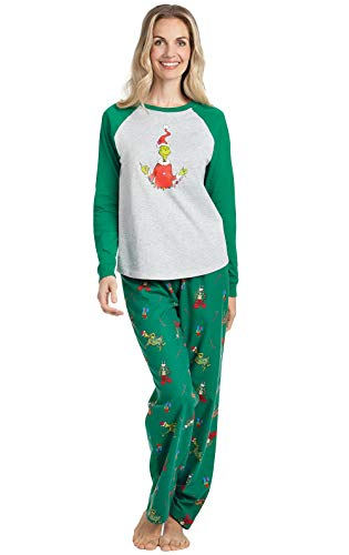 PajamaGram Grinch Pajamas for Women - Cotton Christmas for sale  Delivered anywhere in USA