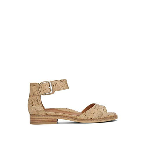 Gentle Souls Gentle Souls by Kenneth Cole Women's GRACEY FLAT SANDAL WITH ANKLE STRAP Sandal, natural cork, 8.5 Medium US price tips cheap
