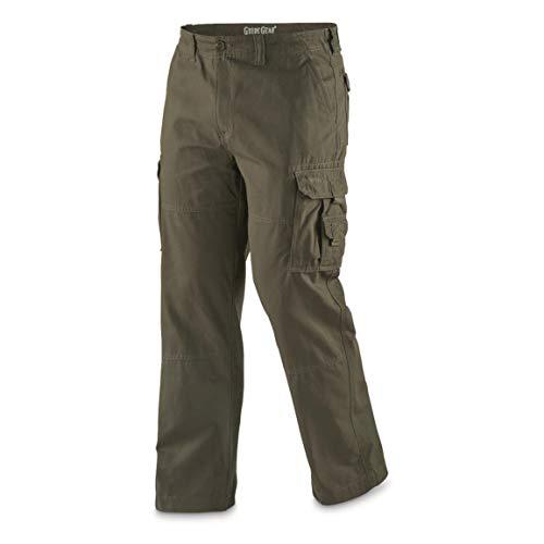 Guide Gear Men's Outdoor Cargo Pants, Olive, W32 L32
