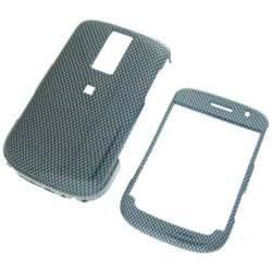 RIM Blackberry Bold 9000 Carbon Fiber Design Snap-On Case Cover with Removable Swivel Belt Clip