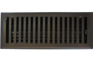 4'' X 12'' Contemporary Oil Rubbed Bronze Plated Floor Register / Vent Cover