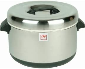 60 CUP INSULATED SERVING RICE POT WARMER - STAINLESS STEEL