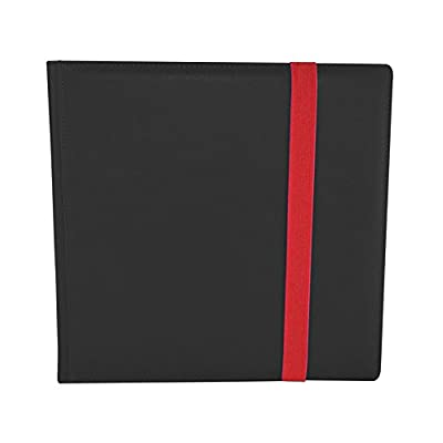 Dex Protection Dex Binder 12 Black Deluxe Portfolio 12-Pocket Velvet-Lined Playset Album Holds 480 Cards Double Sided, Side-Load Binder fits Magic, Pokemon, Yu-Gi-Oh: Toys & Games
