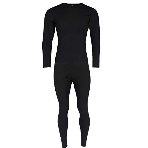 (Hanes Men's Thermal Waffle Knit Long Sleeve Shirt and Pants, Large,)
