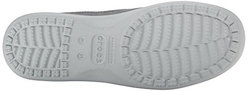Charcoal M Gris de 2 Zapatillas Lona Grey Santa Luxe Light Hombre Cruz Crocs w6AqWBvOW