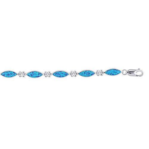 """Bracelet en argent Sterling a créé Opal - 8 """"- JewelryWeb"""