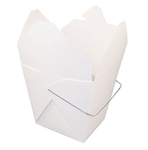 Chinese Take Out Food Pails With Handle, 32oz. - White - Set Of 40