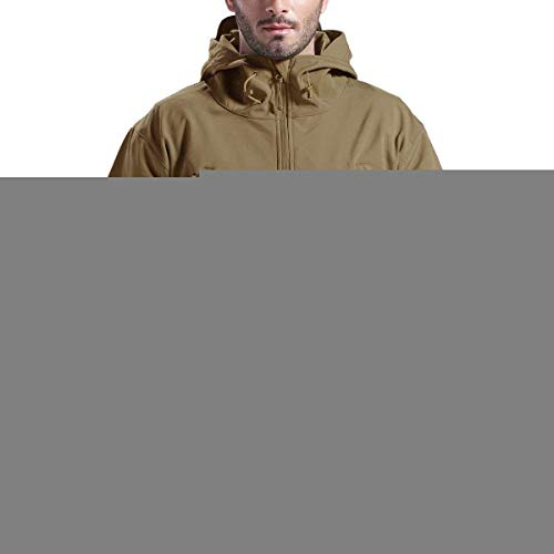 96f81676 FREE SOLDIER Men's Outdoor Waterproof Soft Shell Hooded Military Tactical  Jacket(Wolf Brown Medium)