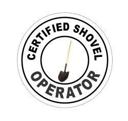 (JS Artworks Certified Shovel Operator Hard Hat Funny Stickers)