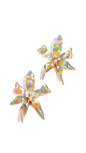 Lele Sadoughi Women's Water Lily Earrings, Pastel, Orange, Clear, One Size