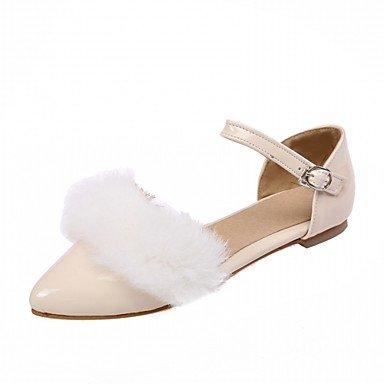 Cómodo y elegante soporte de zapatos de las mujeres pisos primavera otoño piel sintética comodidad oficina y carrera vestido casual soporte de talón hebilla negro rojo blanco gris negro