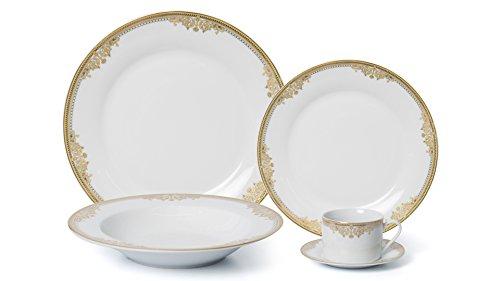 Cheap Royalty Porcelain 5-pc Dinner Set for 1, 24K Gold, Premium Bone China Porcelain (15369G-5)
