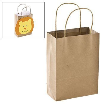 Fun Express Brown Gift Bags