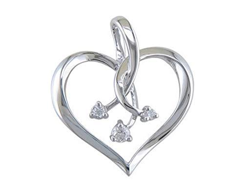 JMS Jewelry 10kt White Gold Diamond Heart Diamond Pendant with 18