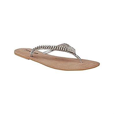 43751febae71 Firetrap Womens Bling Thong Flip Flops Silver 7  Amazon.co.uk  Shoes   Bags