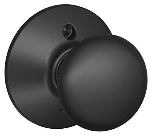Plymouth Knob Non-Turning Lock, Matte Black (F170 PLY 622) ()