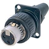 Neutrik NC3FDX-EMC-SPEC 3-PinFemale EMC-XLR Cable End for Panel Mount-by-Neutrik
