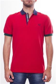 Fred Perry Polo Cuello Bicolor Rojo P6: Amazon.es: Deportes y aire ...
