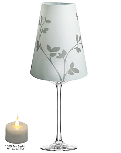 Royal Designs Sprout Silhouette, Vellum Wine Glass Shade ...