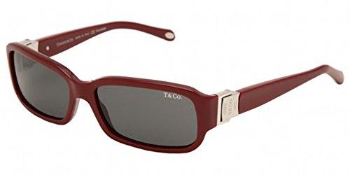 New Tiffany & Co. Ladies Red Havana 56mm Polarized Sunglasses TF4002-80314B BNIB