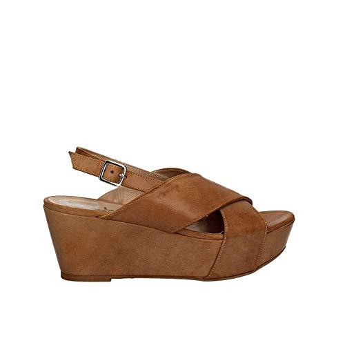 Sandalo 5669 Marrone Donna Zeppa Mally RwvUTqH8