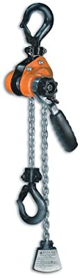"CM 603 Series Mini Ratchet Lever Chain Hoist, 6-3/8"" Lever, 1100 lbs Capacity, 5' Lift Height"