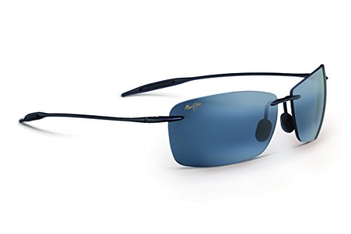Price comparison product image Maui Jim Sunglasses - Lighthouse / Frame: Gloss Black Lens: Polarized Neutral Gray