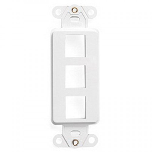 Faceplate Wall Plate Cover Single (1) Gang Three Port Outlet Decora Style White ()
