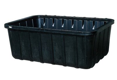 "UltraTech 87"" X 62 1/4"" X 32 3/4"" Ultra-550 Containment Sump Black Polyethylene Spill Containment Sump With 605 Gallon Spill Capacity And Drain For 500 And 550 Gallon Tank"