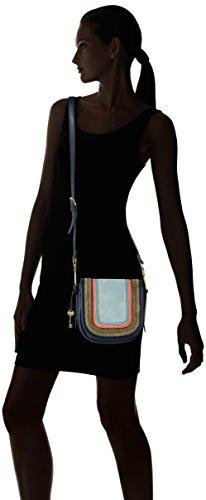 H Rumi 7x18 B x Fossil Stripe Navy femme Multi Sacs bandoulière 73 cm 42x18 T Blau pUCqw46