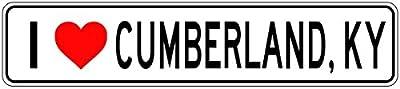 I Love CUMBERLAND, KENTUCKY - City State Heart Sign Quality Aluminum Sign