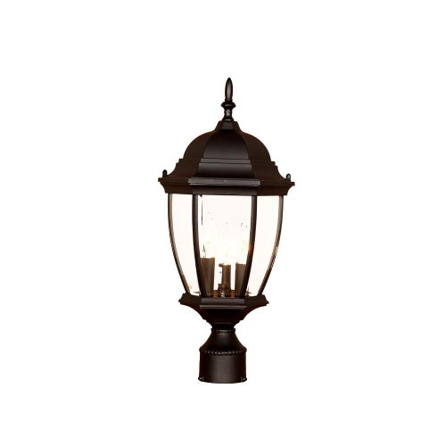 Acclaim 5017BK Wexford Collection 3-Light Post Mount Outdoor Light Fixture, Matte Black