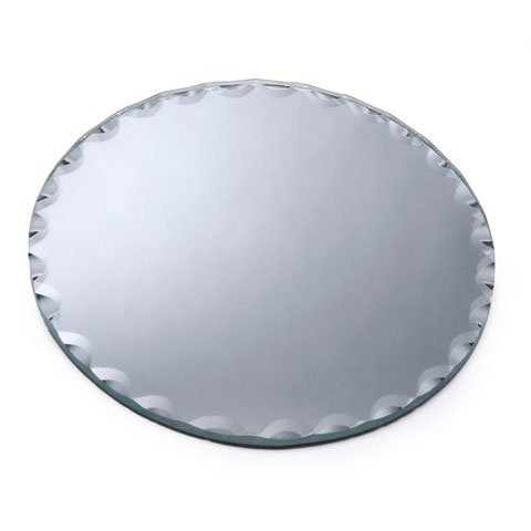 Better Crafts FLORAL MIRROR ROUND SCALLOP EDGE 6 INCHES (6 pack) ()