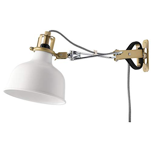 IKEA 202.313.25 Ranarp Wall Clamp Spotlight, Off-White