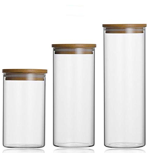 Tea Tin - Food Storage Glass Jar No Lead Kitchen Storage Bottles Sealed Cans With Cover Large Capacity Candy Glass Jars Tea Box