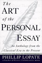 Art Of Personal Essay