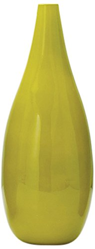 Torre & Tagus 900517 Juno Lacquered Bamboo Short Pin Vase, Short, Celery