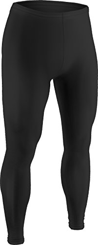 Field Hockey Ball Made (Men's and Women's Sports Compression, Ankle Length Tight-Great for Football, Baseball, Skating and Field Hockey-Made with Light Weight, Moisture Wicking, Odor Protective Fabric-(Large, Black))