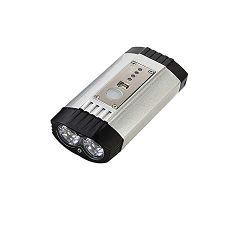 MA87 Mountain Bike Headlight Night Riding Cycling Front Lamp USB Rechargeable (Silver)