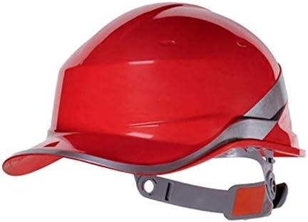 Yan Xiao Yu 安全ヘルメット工事現場反射ストリップリーダーシップ電力建設工学ヘルメット通気性労働保険ユニセックス (Color : Red, Size : One size)