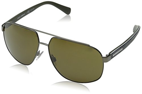 D&G Dolce & Gabbana Men's Mimetic Oval Sunglasses,Matte Gunmetal & Matte Green,61 - Sunglasses And Dolce Gabbana 2014